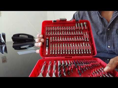 Juego de brocas y puntas para atornillar Craftsman de 100 piezas.