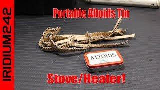 Portable Altoids Tin Stove