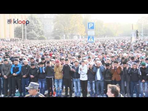 Айт намаз на Старой площади Бишкека