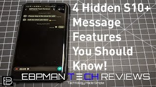 4 Hidden Samsung Messages Features YOU MUST KNOW | Samsung S10 Plus