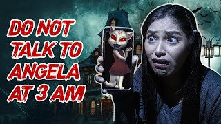 DO NOT TALK TO ANGELA AT 3 AM Challenge|She Is Talking🤬Real Ghost? MOST HAUNTED CAT☠Be Natural