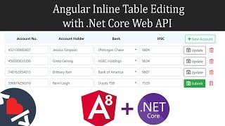 Angular 8 Inline Table Editing with Asp.Net Core Web API