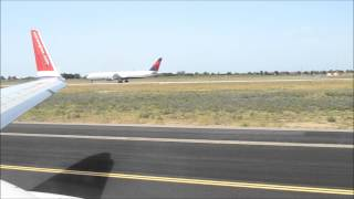 preview picture of video 'Norwegian Boeing 737 take off from Rome to Arlanda'
