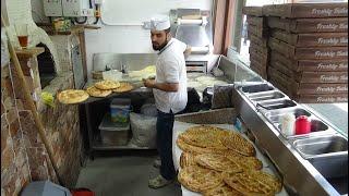 Master Baker making Turkish Wood Fired Oven Artisan Breads: Ekmeği, Ramazam & Lavash Bread in London