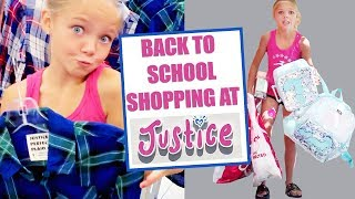 Belle Goes BACK TO SCHOOL SHOPPING AT JUSTICE For Clothes And A Back Pack!! What Does She Choose?