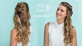 Half up braided style with scunci