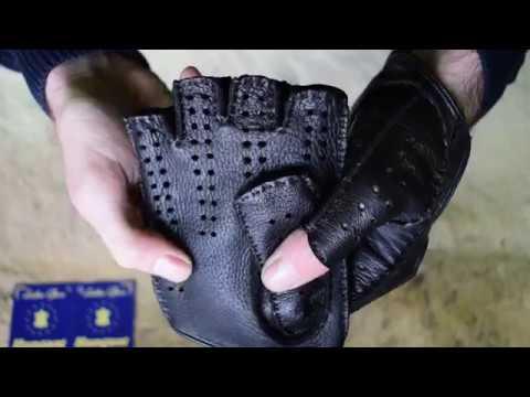86f6ba0f16970e Schwarze Fingerlose Lederhandschuhe Autohandschuhe Trainingshandschuhe  Radfahrhandschuhe