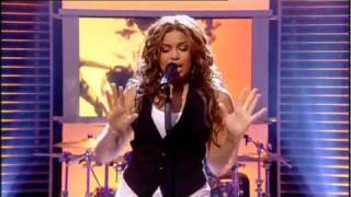 "Jordin Sparks ~ S.O.S (Let The Music Play) Live at ""National Lottery Draws"""