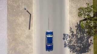 Zabytkowy Mercedes W108 - filmowany dronem