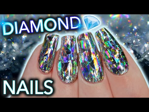 DIY Diamond Nails aka HOLO GET IT STRAIGHT DAMNIT