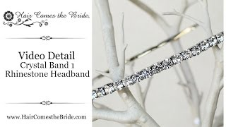 Simple Rhinestone Headband ~ Bridal Hair Accessories And Jewelry By Hair Comes The Bride