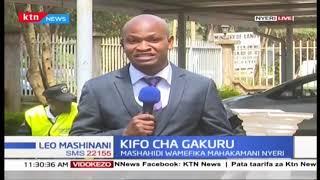 Kesi kuhusu uchunguzi wa kifo cha aliyekua gavana wa Nyeri Wahome Gakuru itaendelea kesho