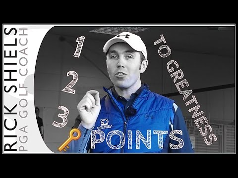 THE 3 KEY POINTS TO BECOME A GREAT GOLFER