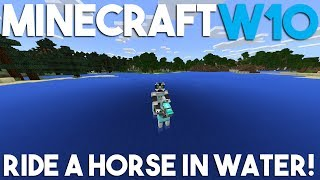 How to Swim on a Horse in Minecraft Windows 10 Edition!