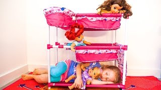 Nastya pretend play with baby dolls toy