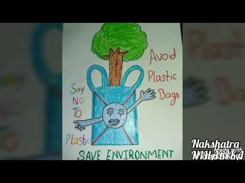 Download How To Draw Avoid Plastic Save Earth Poster Drawing For