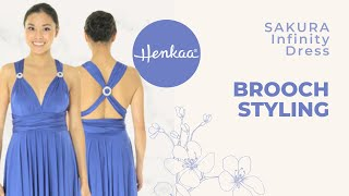 4 Ways To Accessorize A Convertible Infinity Dress With Brooches