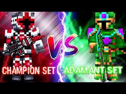 Champion Set vs Adamant Set - Pixel Gun 3D