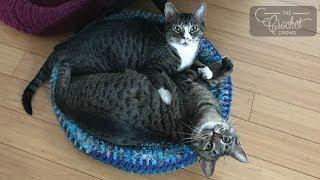 Crochet Padded Rim Pet Bed