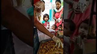 Covid 19 - Distributed satvik meals and sweets to the stranded migrant workers in Saidabad