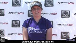 2022 Kayli Mueller Outfield and Second Base Softball Skills Video - Nevada Stealth