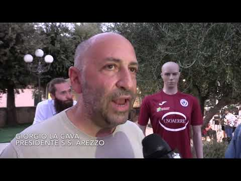 Il presidente La Cava alla presentazione dell'Arezzo