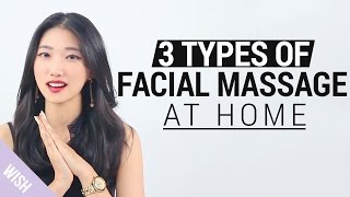 Korean V line Massage | 3 Types of facial massage at home