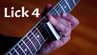Four Slide Guitar Licks in E