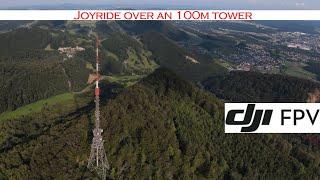DJI FPV: Tower diving