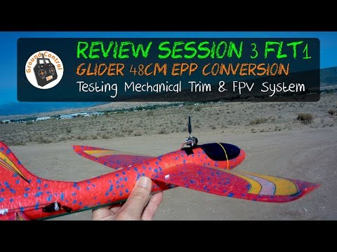 $4 Glider RC Conversion - Session 3 Test Flight 1