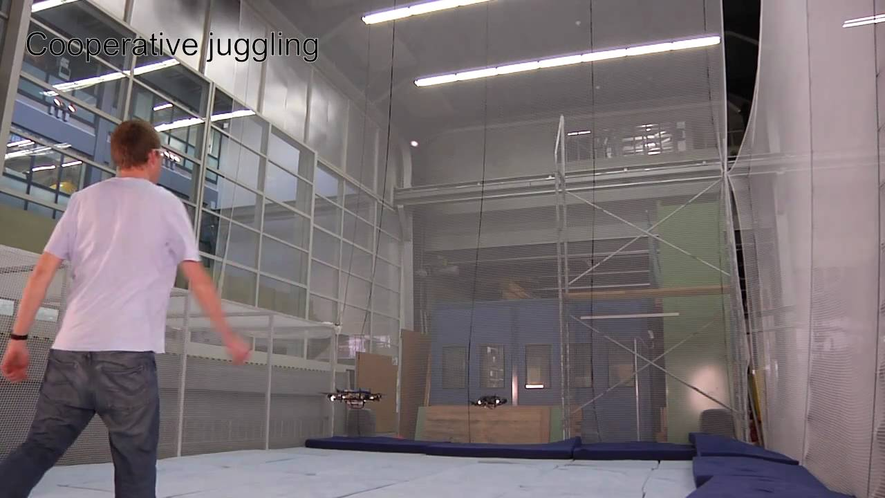 Quadrotor Drones Can Juggle Balls With Each Other