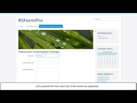 Ep. 73: How to send form submission confirmation in RSForm!Pro