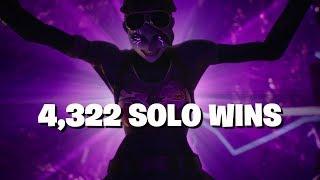 4,322 SOLO WINS FORTNITE LIVE STREAM NEW SKIN