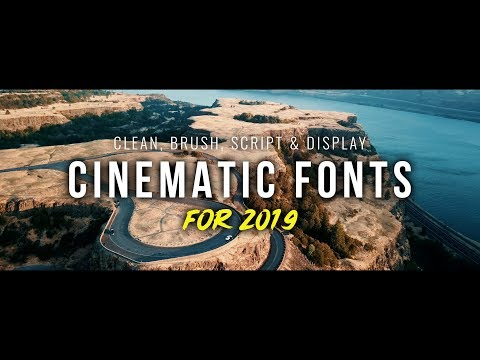 Best Free Fonts 2019   Perfect for YouTubers & Designers