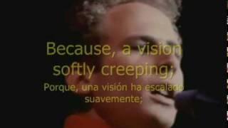 EL SONIDO DEL SILENCIO. Subtitulada en Ingles-Español.PAUL SIMON & ART GARFUNKEL