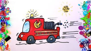Como Dibujar Un Carro De Bomberos ฟรวดโอออนไลน ดทวออนไลน