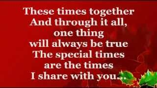 These Are The Special Times (Lyrics) - Celine Dion
