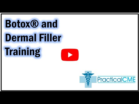 Botox Dermal Fillers Training Certification. Online and Live CME ...