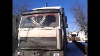 Заводим МАЗ в мороз -20