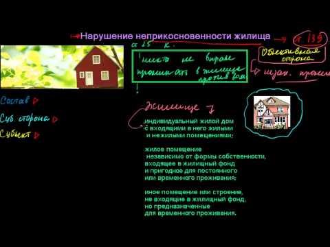 331  Нарушение неприкосновенности частной жизни  Нарушение неприкосновенности жилища