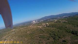 Flying in countryside by drone H501S, Onepaa x2000 Aomway diamond FPV antenna, 450m distance