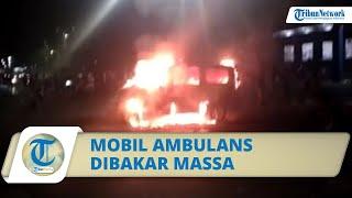 Unjuk Rasa Tolak UU Cipta Kerja di Makassar Ricuh, Kantor DPD Nasdem dirusak hingga Ambulans Dibakar