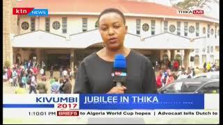 Deputy President William Ruto attends church service in Kiambu ahead of campaigns in Thika