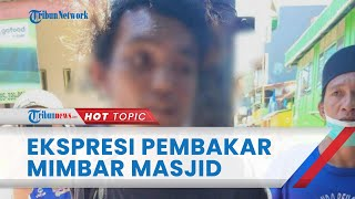 Ekspresi Pelaku Pembakar Mimbar Masjid saat Diikat di Tiang, Tampak Senyum-senyum