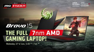 YouTube Video 3CsLiS6qipk for Product MSI Bravo 15 Gaming Laptop (AMD Ryzen 4000) by Company MSI (Micro-Star International) in Industry Computers