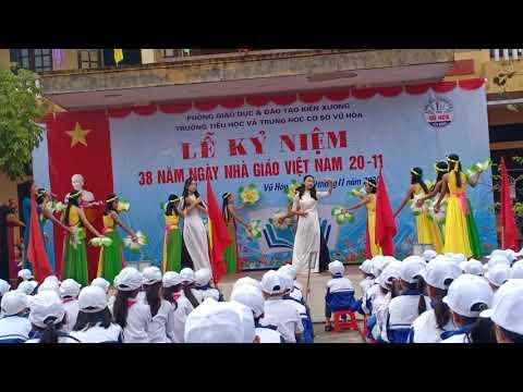 Lễ kỷ niệm ngày Nhà giáo Việt Nam 20/11 trường TH&THCS Vũ Hoà