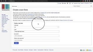 How to add a new item to Wikidata.