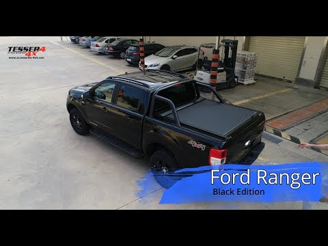 Ford Ranger (Limited) 2016+ coperchio a rullo in alluminio Nero Matte