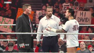 Raw - CM Punk describes his conspiracy theory to WWE COO Triple H