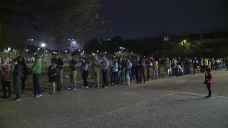 Long lines at voting centers across Houston area